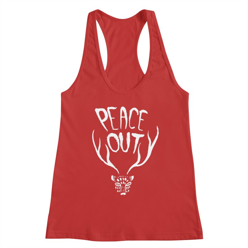 Peace Out Leopard (white) Women's Tank by Threads by @eyedraugh