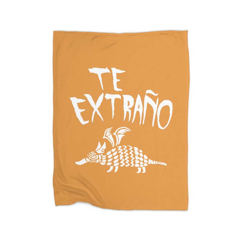 Te Extraño Armadillo (white) Home Blanket by Threads by @eyedraugh