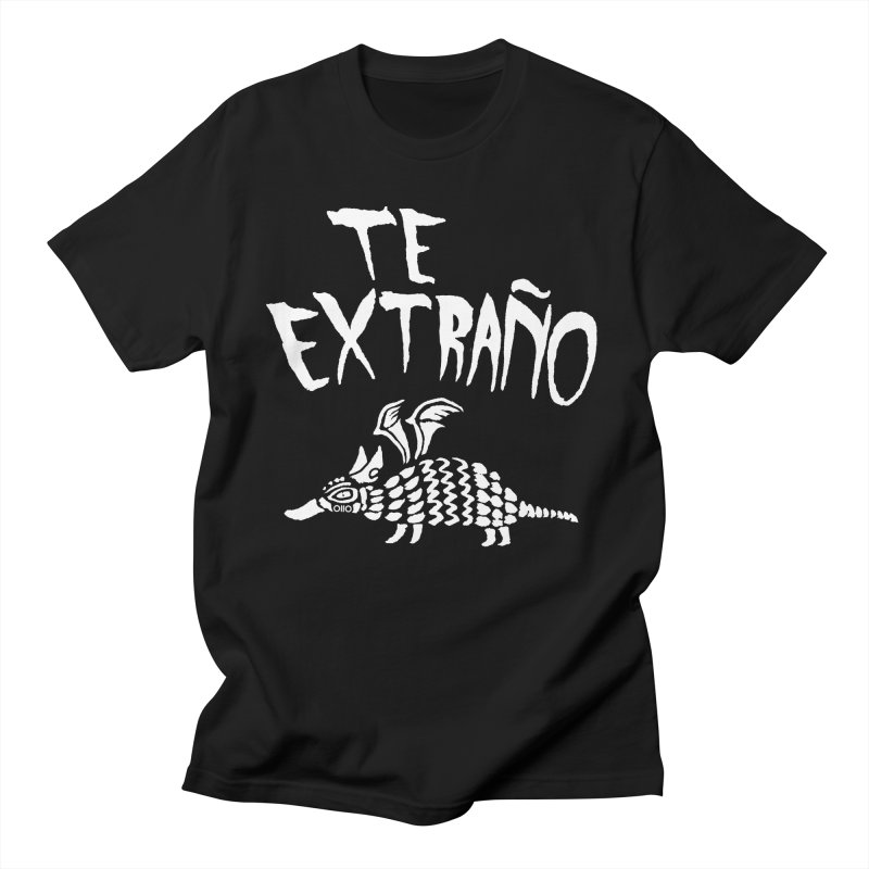 Te Extraño Armadillo (white) Men's T-Shirt by Threads by @eyedraugh