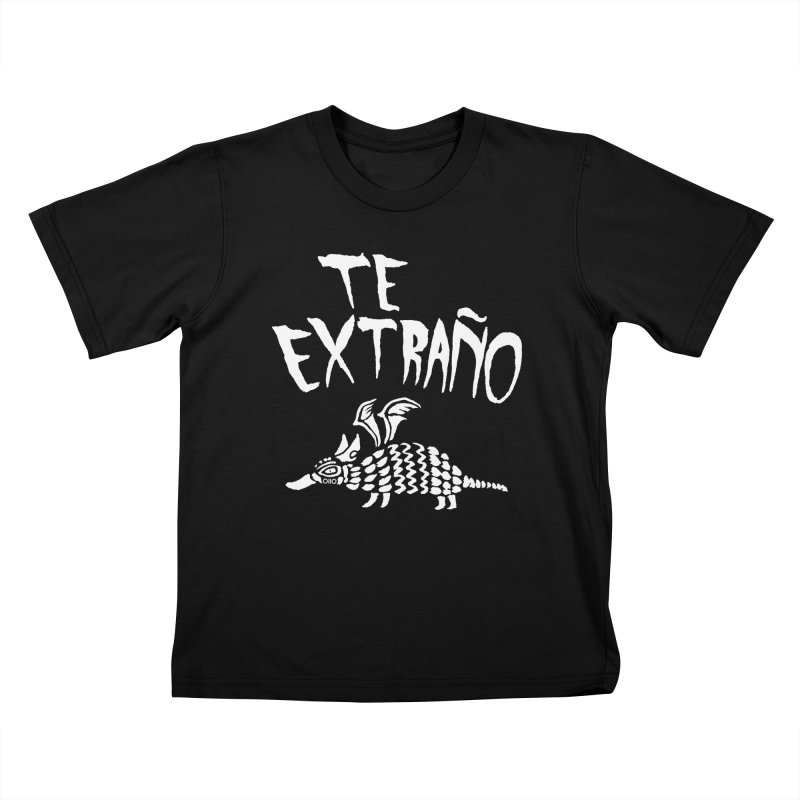 Te Extraño Armadillo (white) Kids T-Shirt by Threads by @eyedraugh