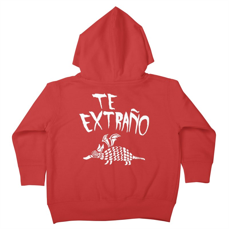 Te Extraño Armadillo (white) Kids Toddler Zip-Up Hoody by Threads by @eyedraugh