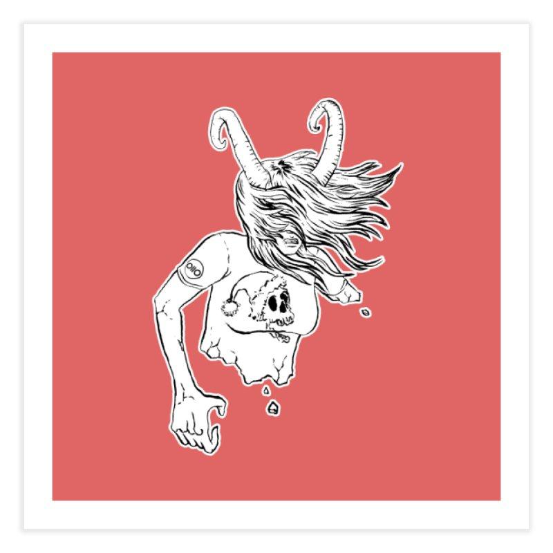 Krampus (December) Home Fine Art Print by Threads by @eyedraugh