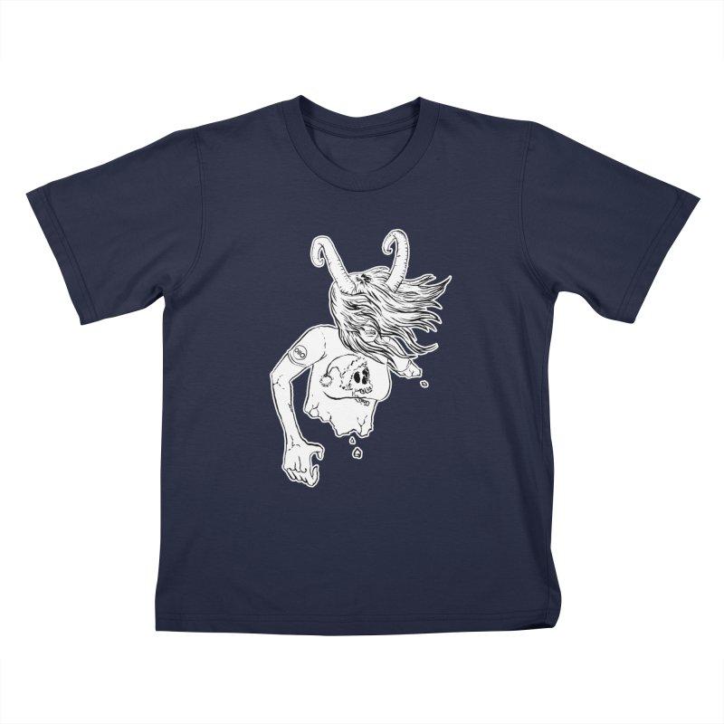 Krampus (December) Kids T-Shirt by Threads by @eyedraugh
