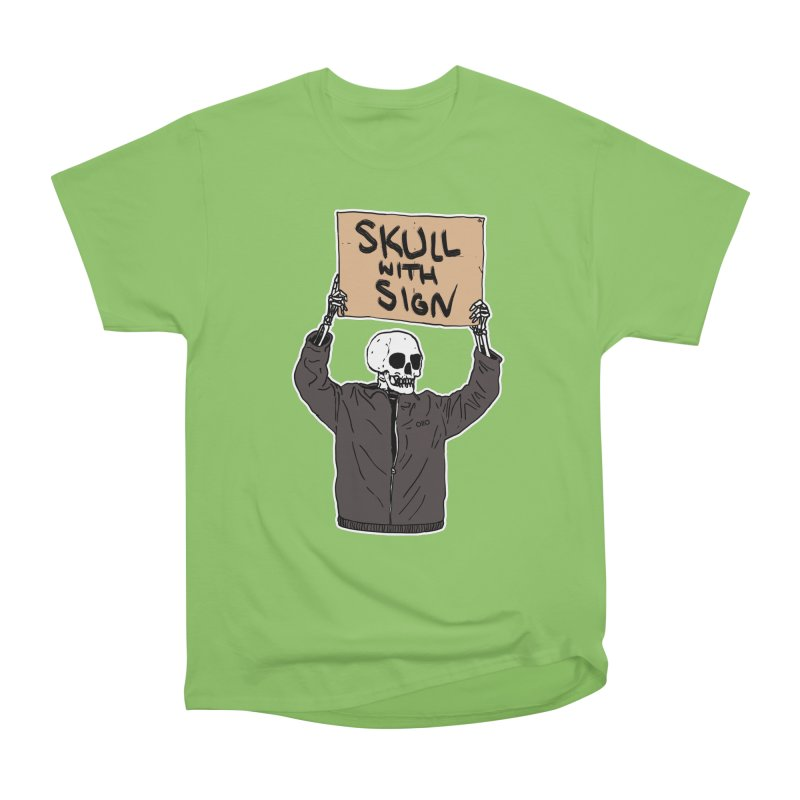Skull with Sign Women's T-Shirt by Threads by @eyedraugh