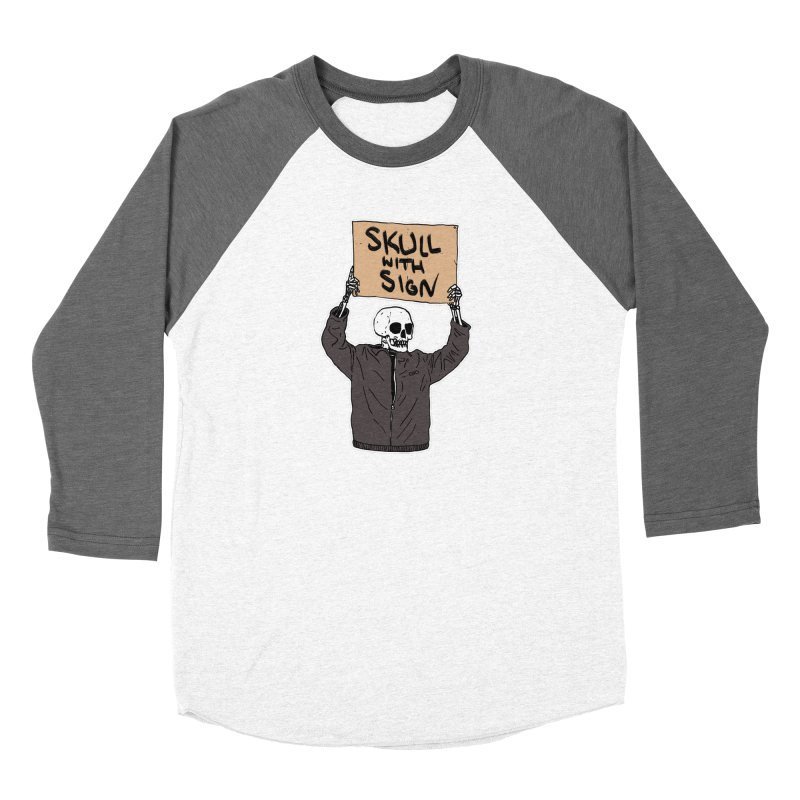 Skull with Sign Women's Longsleeve T-Shirt by Threads by @eyedraugh