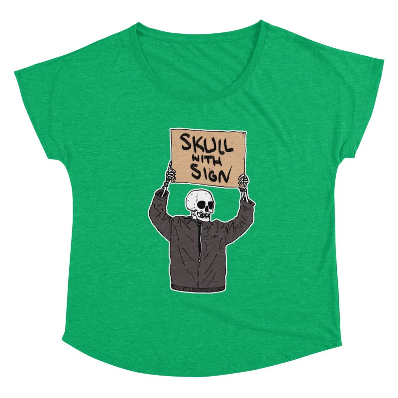 Skull with Sign Women's Scoop Neck by Threads by @eyedraugh
