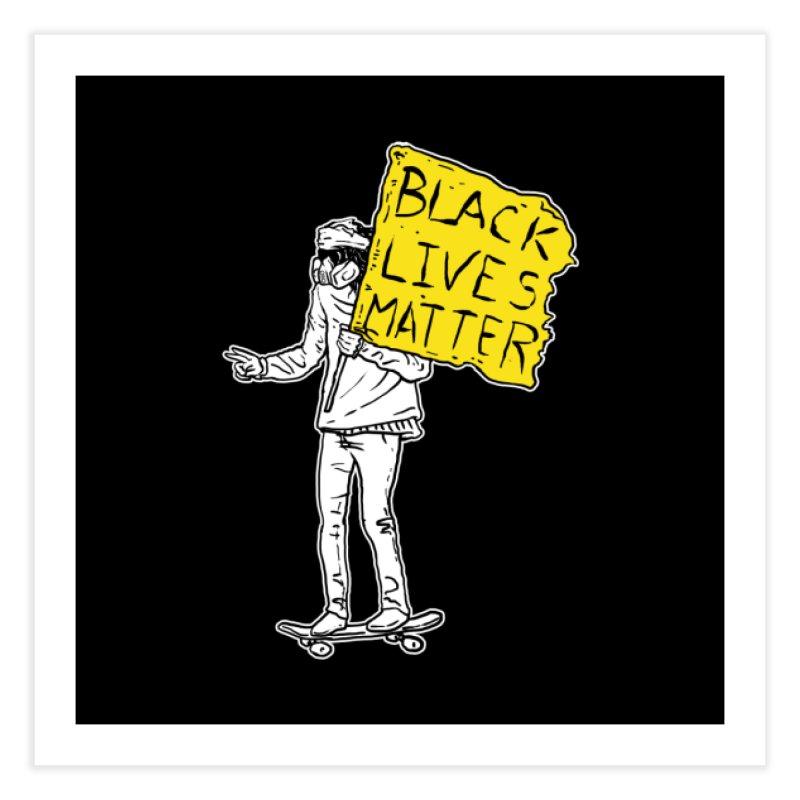Skate for Black Lives Home Fine Art Print by Threads by @eyedraugh
