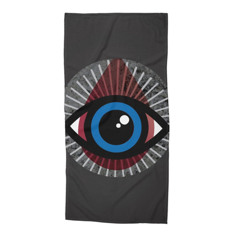 Eye for an Eye Tear Drop Accessories Beach Towel by Eye for an Eye Merch Shop