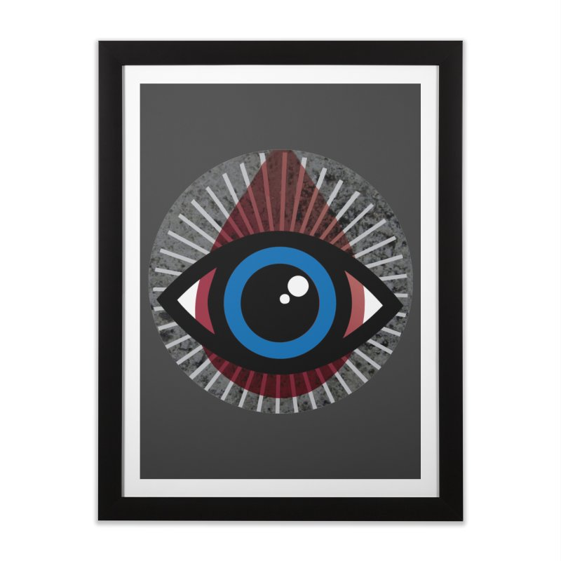 Eye for an Eye Tear Drop Home Framed Fine Art Print by Eye for an Eye Merch Shop