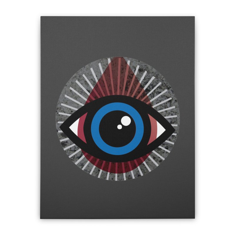 Eye for an Eye Tear Drop Home Stretched Canvas by Eye for an Eye Merch Shop