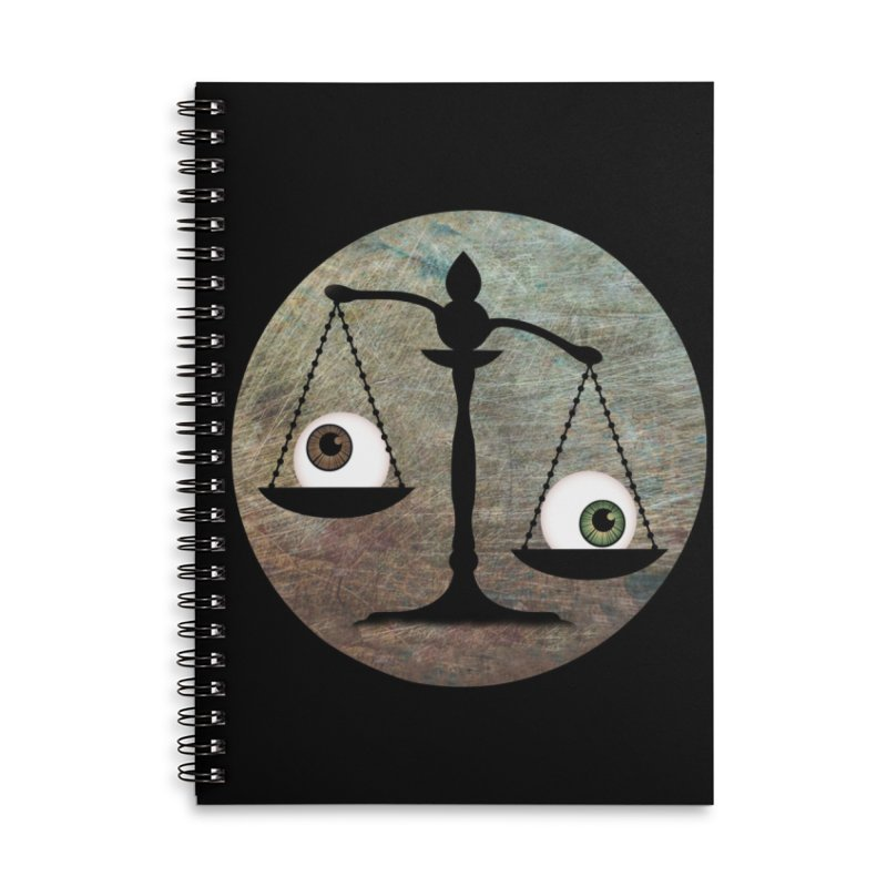 Eye for an Eye Scale Accessories Lined Spiral Notebook by Eye for an Eye Merch Shop