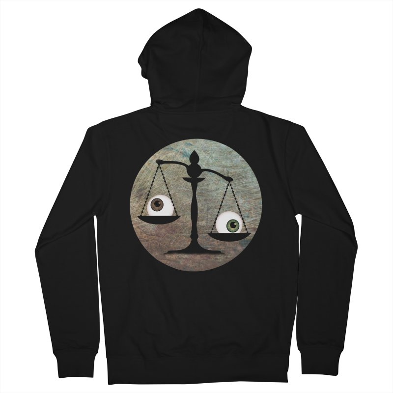 Eye for an Eye Scale Men's French Terry Zip-Up Hoody by Eye for an Eye Merch Shop