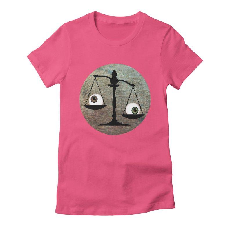 Eye for an Eye Scale Women's Fitted T-Shirt by Eye for an Eye Merch Shop