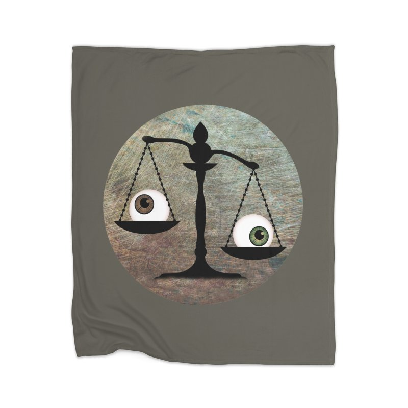 Eye for an Eye Scale Home Fleece Blanket Blanket by Eye for an Eye Merch Shop