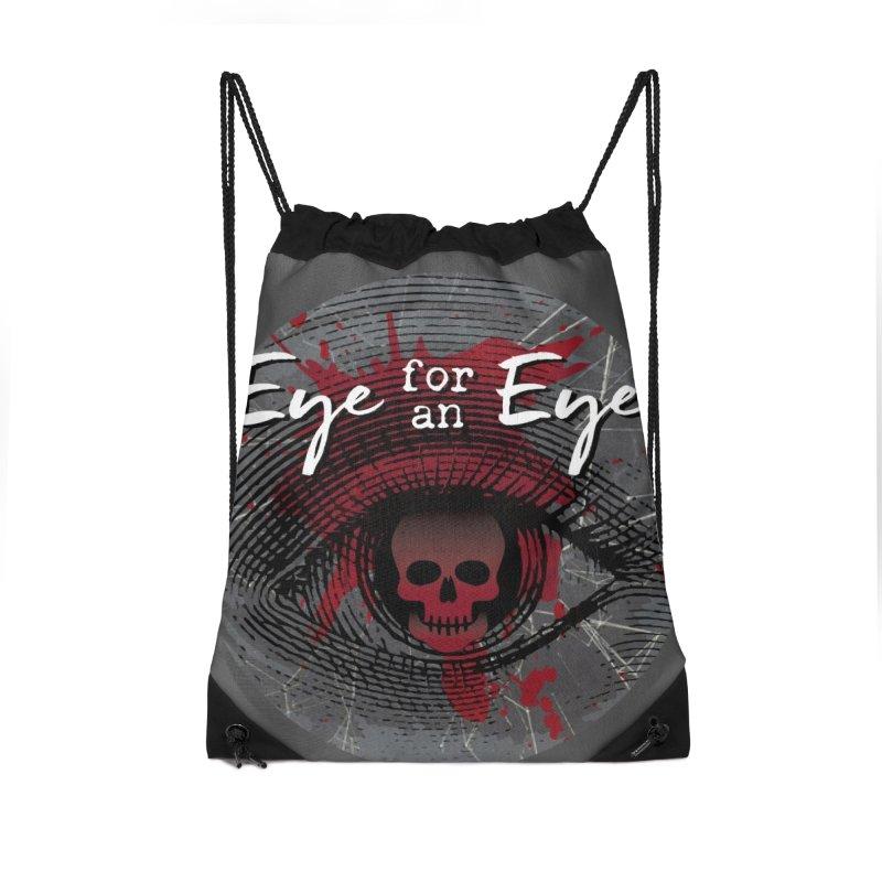 Eye Blood Shot Accessories Drawstring Bag Bag by Eye for an Eye Merch Shop