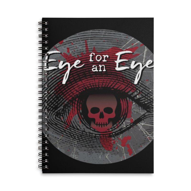 Eye Blood Shot Accessories Lined Spiral Notebook by Eye for an Eye Merch Shop
