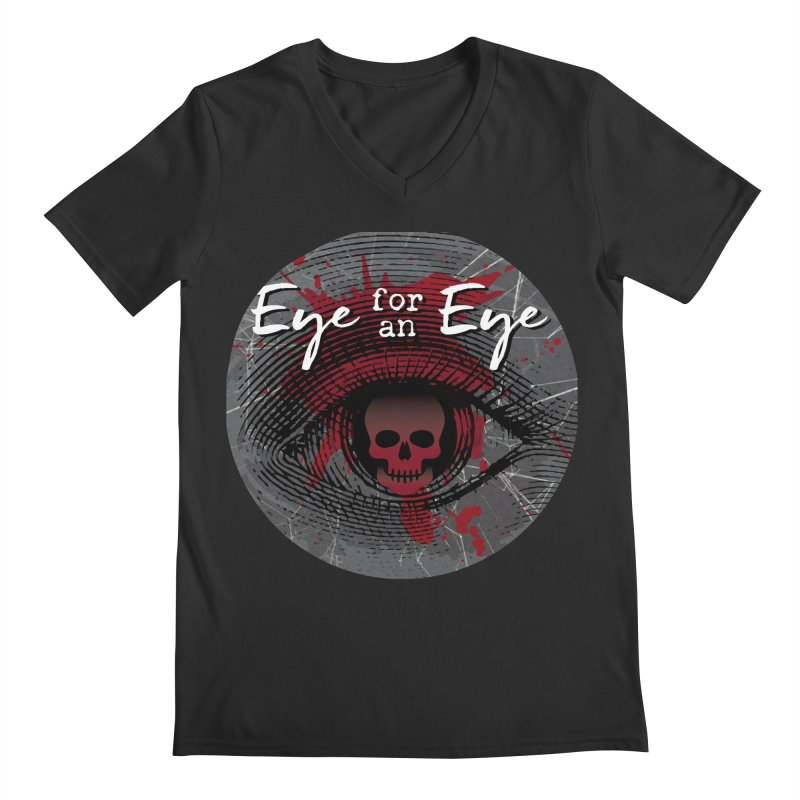 Eye Blood Shot Men's Regular V-Neck by Eye for an Eye Merch Shop