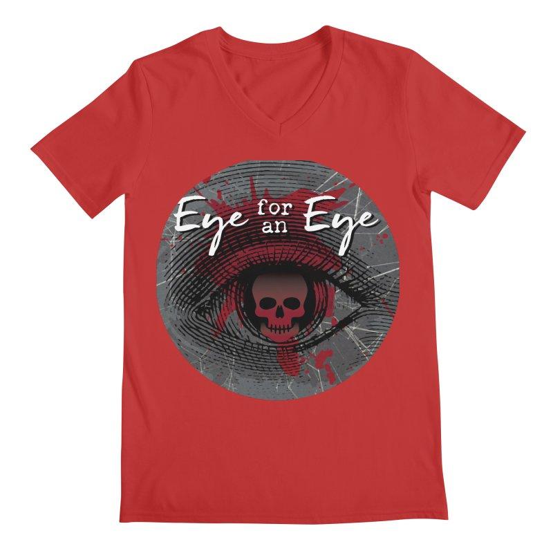 Eye Blood Shot Men's Regular V-Neck by Eye for an Eye Merch Shop