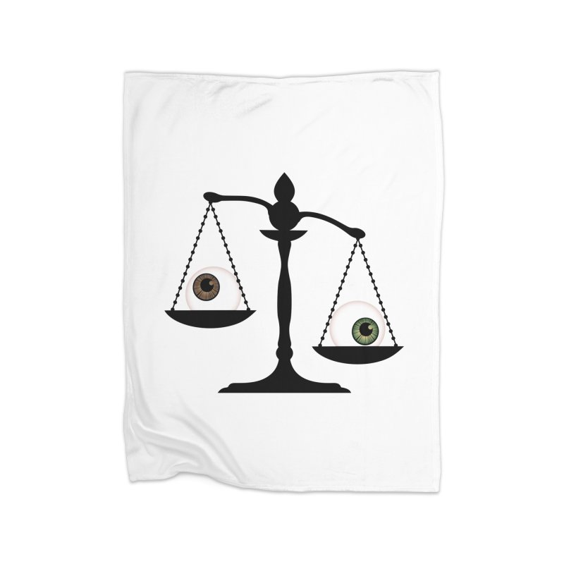 Isolated Eye for an Eye Scale Home Fleece Blanket Blanket by Eye for an Eye Merch Shop
