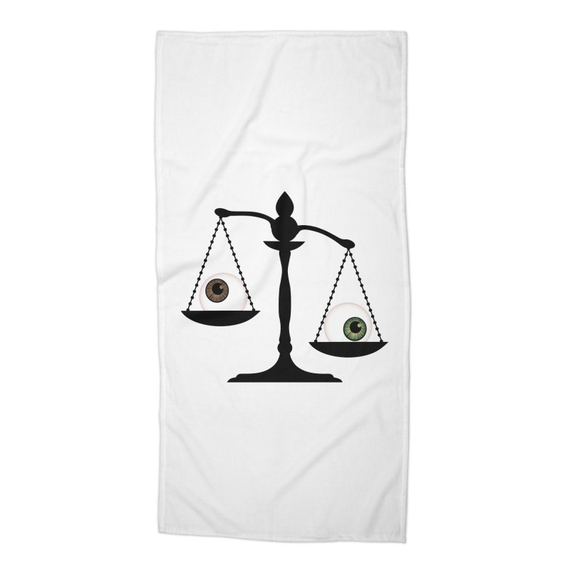 Isolated Eye for an Eye Scale Accessories Beach Towel by Eye for an Eye Merch Shop