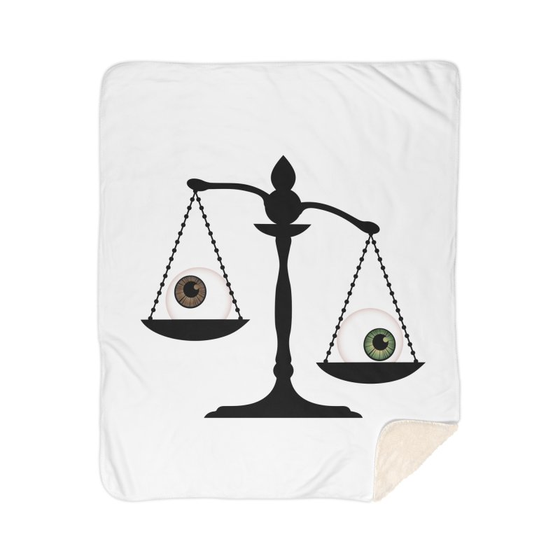 Isolated Eye for an Eye Scale Home Sherpa Blanket Blanket by Eye for an Eye Merch Shop