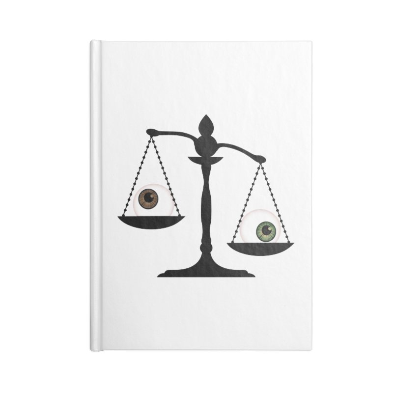 Isolated Eye for an Eye Scale Accessories Blank Journal Notebook by Eye for an Eye Merch Shop