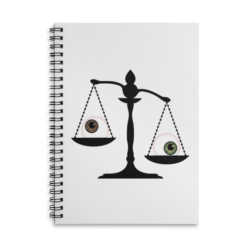 Isolated Eye for an Eye Scale Accessories Lined Spiral Notebook by Eye for an Eye Merch Shop