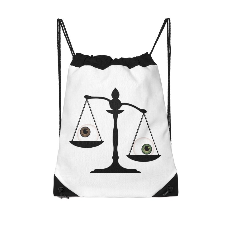 Isolated Eye for an Eye Scale Accessories Drawstring Bag Bag by Eye for an Eye Merch Shop