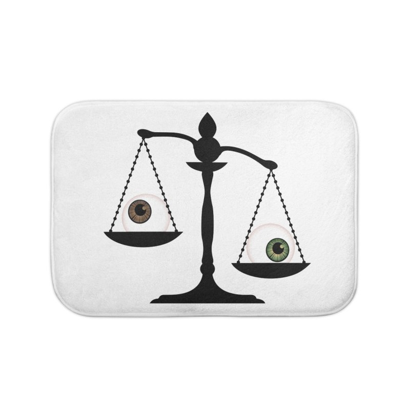 Isolated Eye for an Eye Scale Home Bath Mat by Eye for an Eye Merch Shop