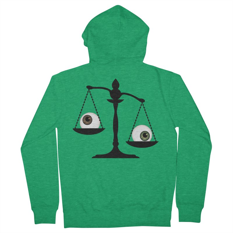 Isolated Eye for an Eye Scale Men's French Terry Zip-Up Hoody by Eye for an Eye Merch Shop