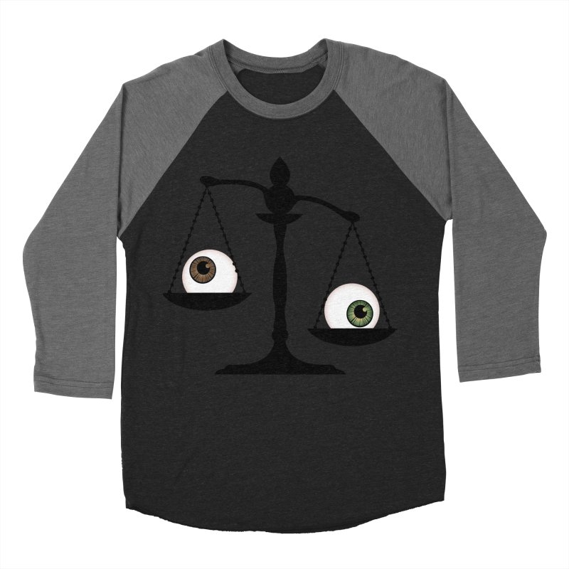 Isolated Eye for an Eye Scale Women's Baseball Triblend Longsleeve T-Shirt by Eye for an Eye Merch Shop