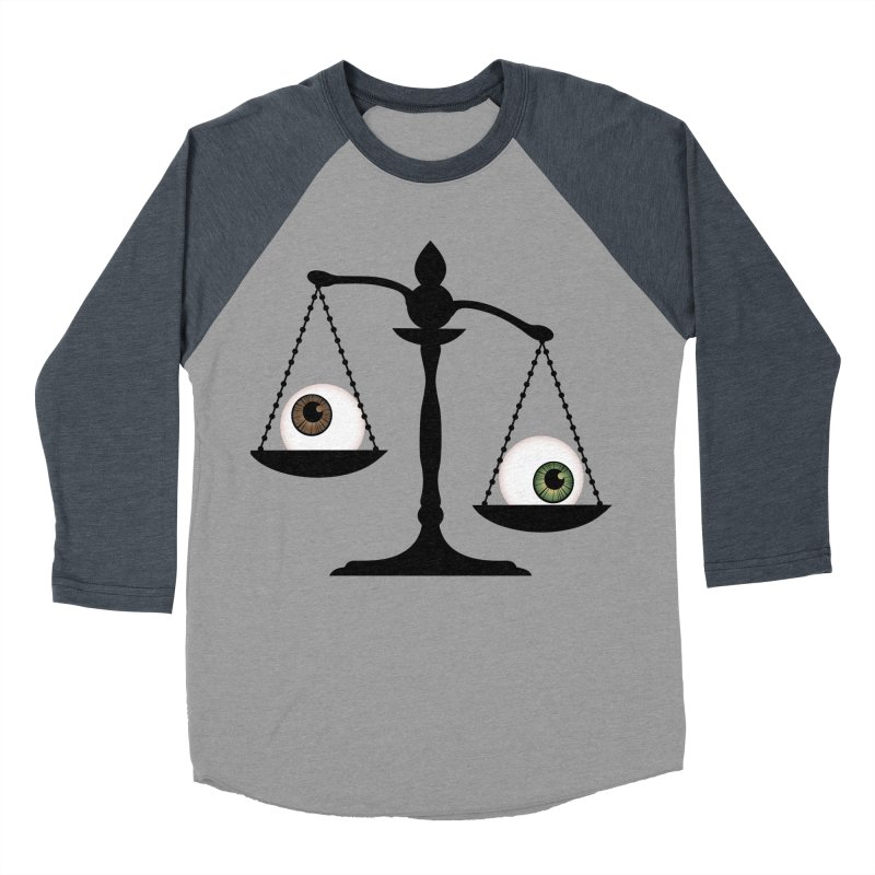 Isolated Eye for an Eye Scale Women's Baseball Triblend Longsleeve T-Shirt by Eye for an Eye Merch Shop
