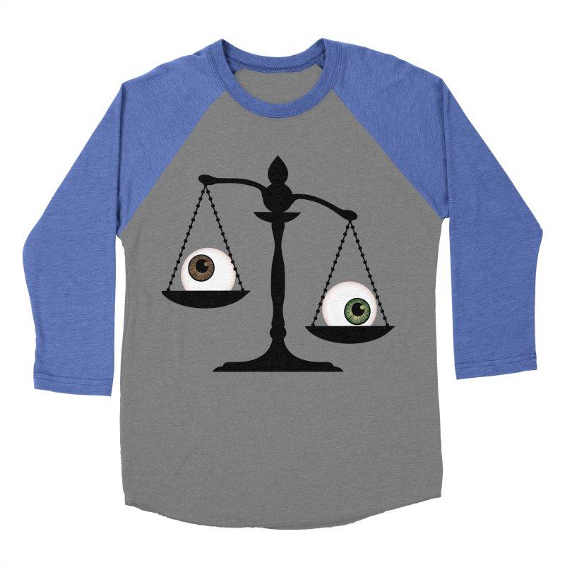 Isolated Eye for an Eye Scale Men's Baseball Triblend Longsleeve T-Shirt by Eye for an Eye Merch Shop