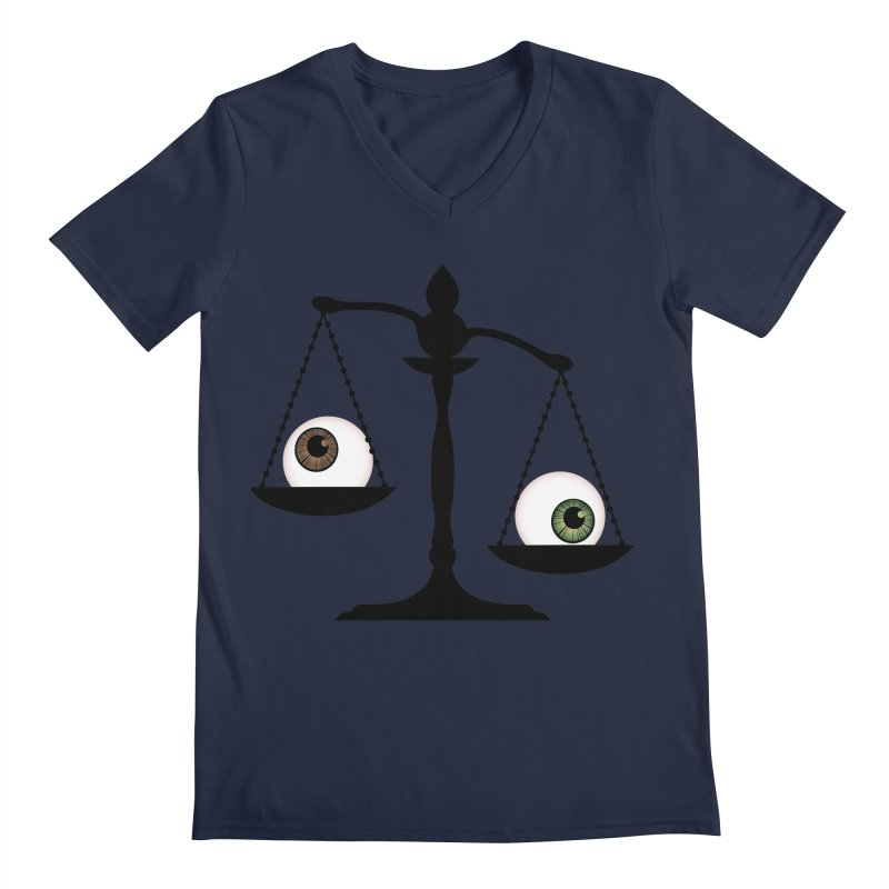 Isolated Eye for an Eye Scale Men's Regular V-Neck by Eye for an Eye Merch Shop