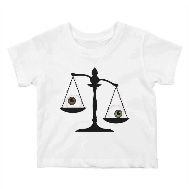 Isolated Eye for an Eye Scale Kids Baby T-Shirt by Eye for an Eye Merch Shop