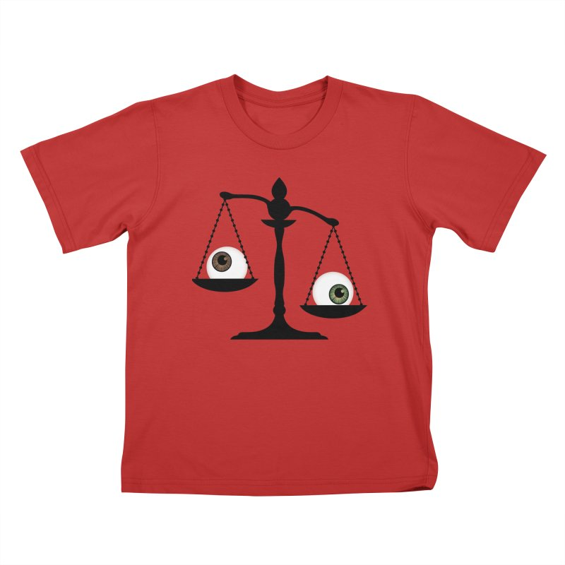 Isolated Eye for an Eye Scale Kids T-Shirt by Eye for an Eye Merch Shop