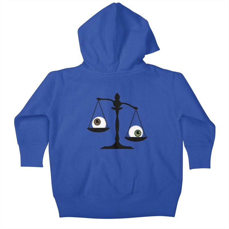 Isolated Eye for an Eye Scale Kids Baby Zip-Up Hoody by Eye for an Eye Merch Shop