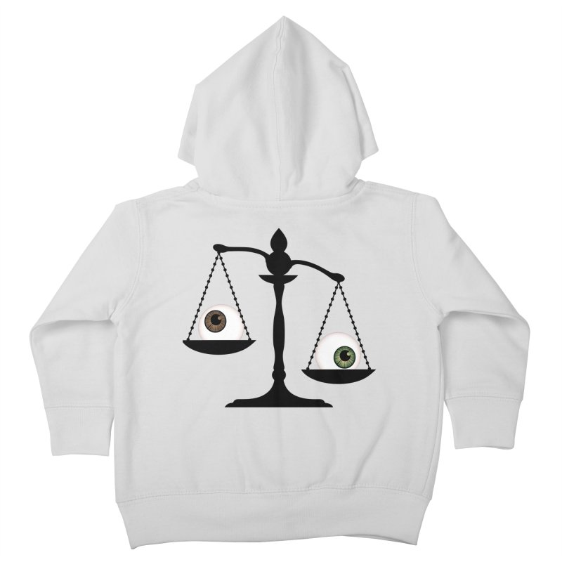 Isolated Eye for an Eye Scale Kids Toddler Zip-Up Hoody by Eye for an Eye Merch Shop