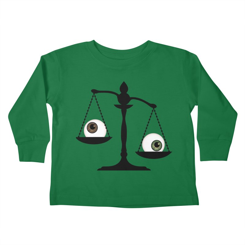 Isolated Eye for an Eye Scale Kids Toddler Longsleeve T-Shirt by Eye for an Eye Merch Shop