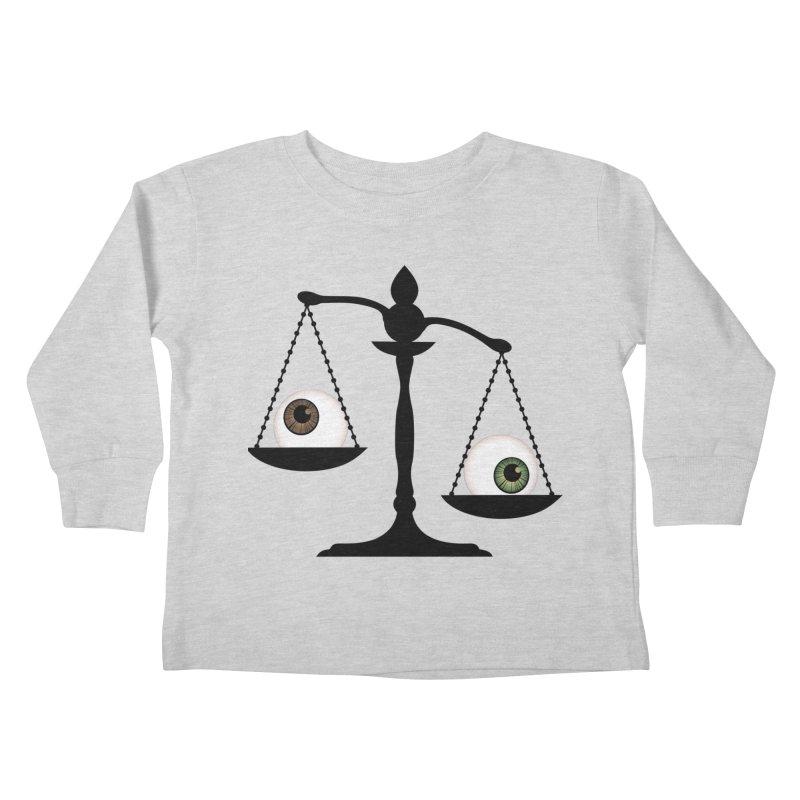 Isolated Eye for an Eye Scale Kids Toddler Longsleeve T-Shirt by Eye for an Eye Merch Shop