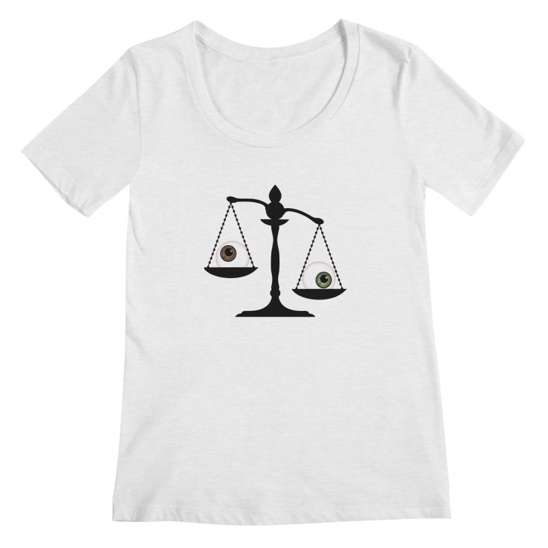 Isolated Eye for an Eye Scale Women's Regular Scoop Neck by Eye for an Eye Merch Shop