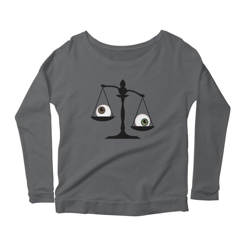 Isolated Eye for an Eye Scale Women's Scoop Neck Longsleeve T-Shirt by Eye for an Eye Merch Shop