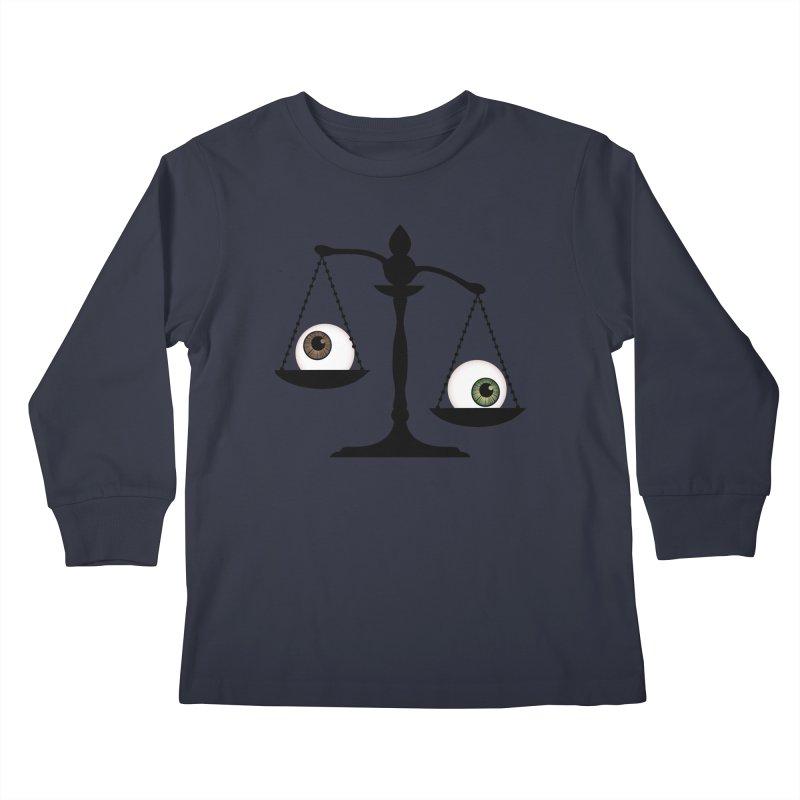 Isolated Eye for an Eye Scale Kids Longsleeve T-Shirt by Eye for an Eye Merch Shop