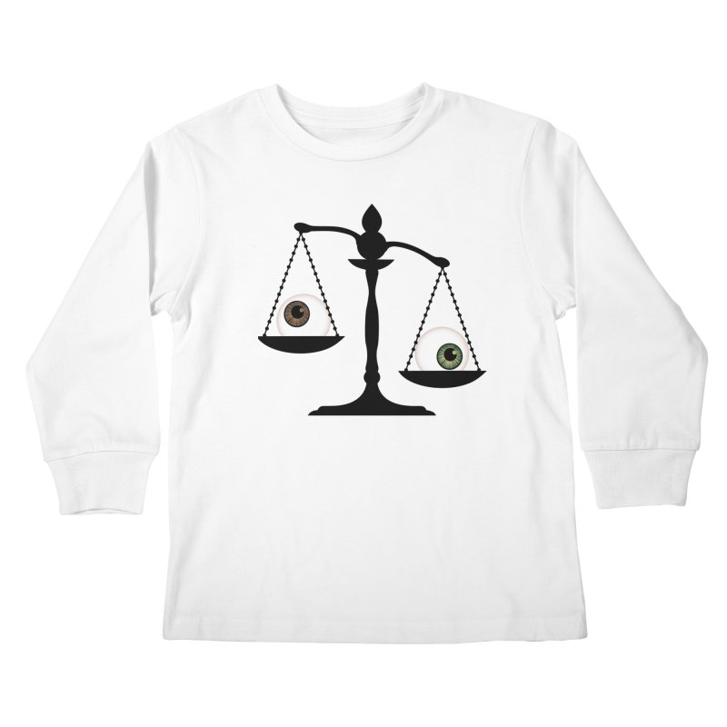 Isolated Eye for an Eye Scale Kids Longsleeve T-Shirt by Eye for an Eye Merch Shop