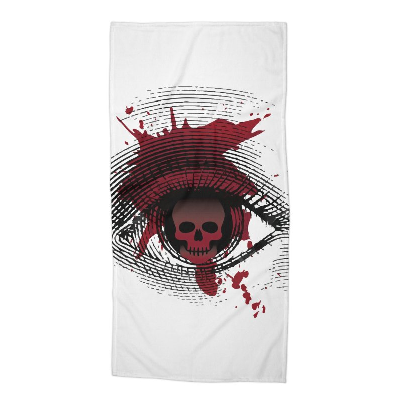 Isolated Blood Shot Eye for an Eye Logo Accessories Beach Towel by Eye for an Eye Merch Shop