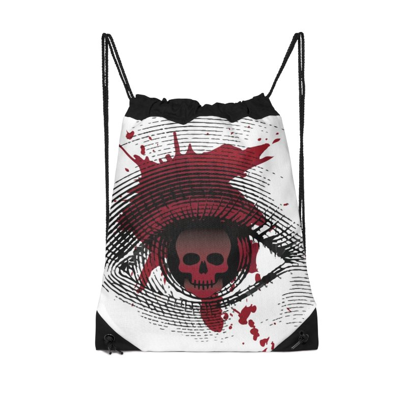 Isolated Blood Shot Eye for an Eye Logo Accessories Drawstring Bag Bag by Eye for an Eye Merch Shop