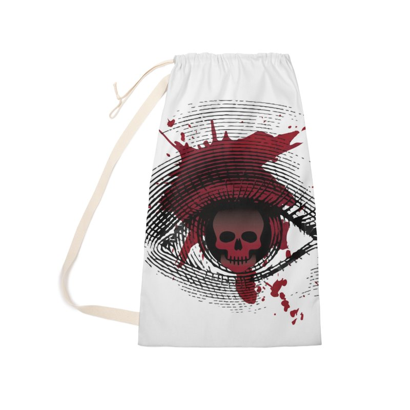 Isolated Blood Shot Eye for an Eye Logo Accessories Laundry Bag Bag by Eye for an Eye Merch Shop