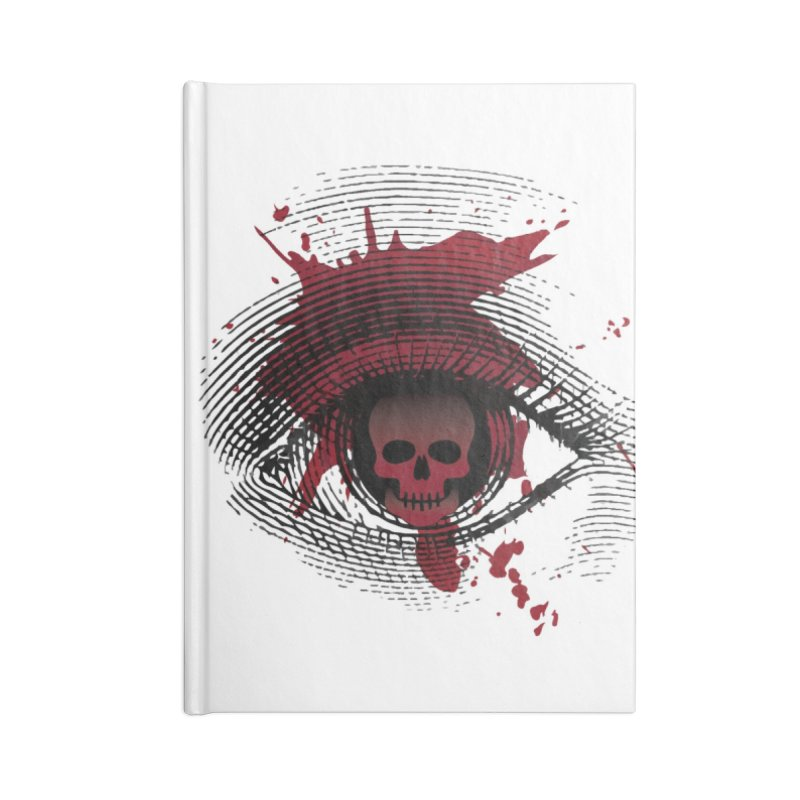 Isolated Blood Shot Eye for an Eye Logo Accessories Lined Journal Notebook by Eye for an Eye Merch Shop