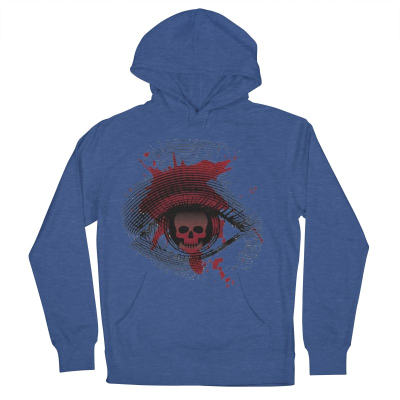 Isolated Blood Shot Eye for an Eye Logo Women's French Terry Pullover Hoody by Eye for an Eye Merch Shop