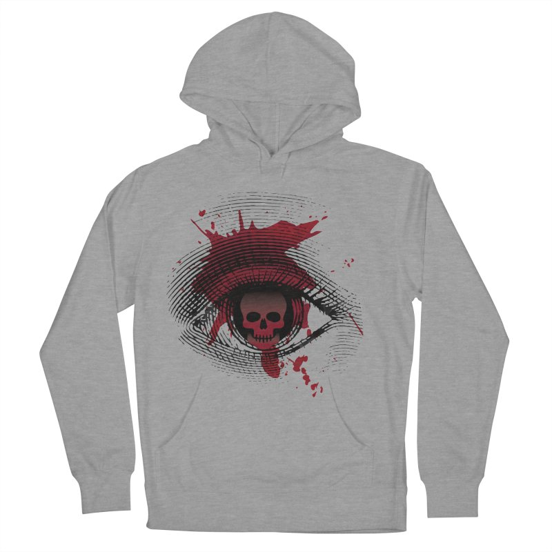 Isolated Blood Shot Eye for an Eye Logo Men's French Terry Pullover Hoody by Eye for an Eye Merch Shop